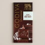 Godiva 50% Dark Chocolate Bar with Sea Salt