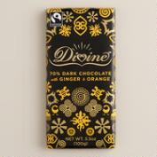 Divine 70% Dark Chocolate with Ginger and Orange Bar