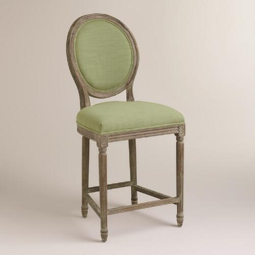 Desert Sage Linen Paige Counter Stool