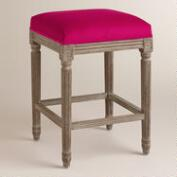 Fuchsia Paige Backless Counter Stool