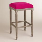 Fuchsia Paige Backless Barstool