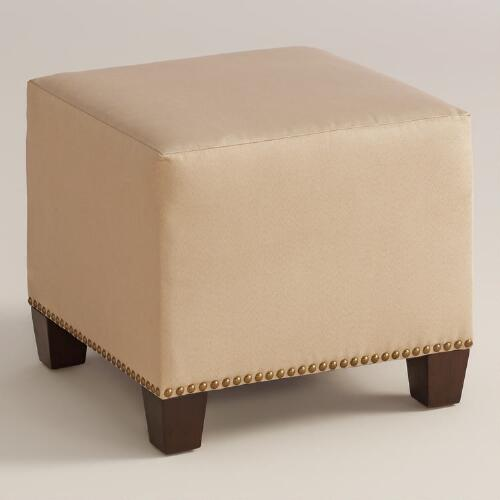 Micro Suede McKenzie Upholstered Ottoman