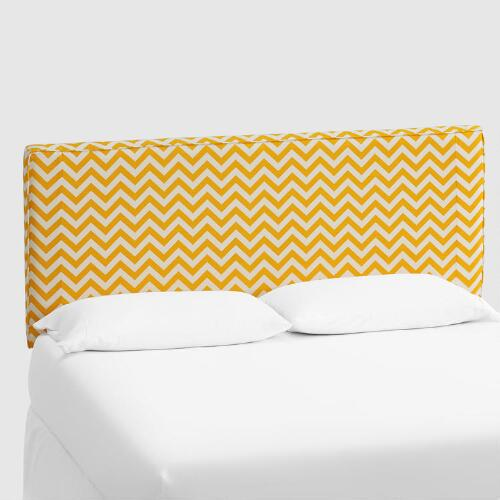 Yellow Zigzag Loran Headboard