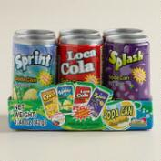 Kidmania Soda Can Fizzy Candy, 6 Pack