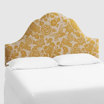 Maize Canary Elsie Upholstered Headboard