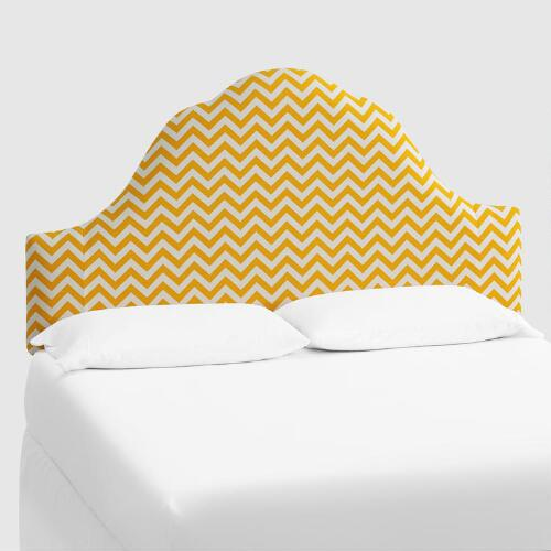 Yellow Zigzag Elsie Headboard