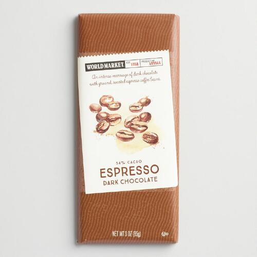 World Market® 54% Dark Chocolate Espresso Bar