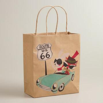 Car Fox & Hare Medium Kraft Gift Bag