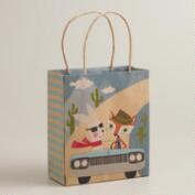 Car Fox & Hare Small Kraft Gift Bag