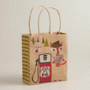 Highway Fox & Hare Small Kraft Gift Bag