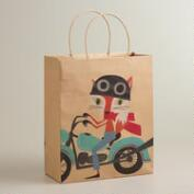 Bike Fox & Hare Large Kraft Gift Bag