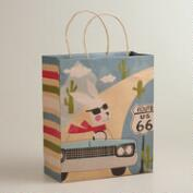 Car Fox & Hare Large Kraft Gift Bag