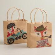 Fox & Hare Mini Kraft Gift Bags, Set of 2