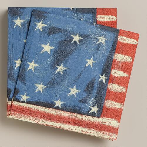 Stars and Stripes Lunch Napkins, 20-Count