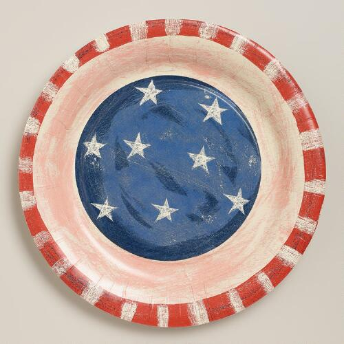 Stars and  Stripes Paper Plates, 8-Count
