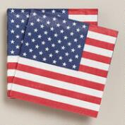United States Flag Beverage Napkins, 20-Count