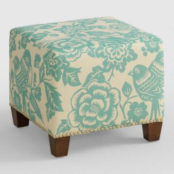 Robin Canary McKenzie Upholstered Ottoman