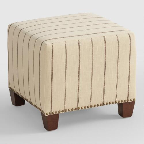 Charcoal Fritz McKenzie Upholstered Ottoman