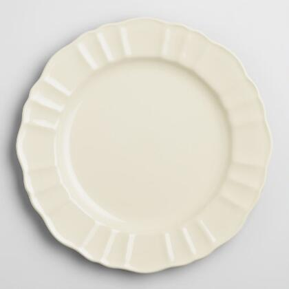 Ivory Provence Dinner Plates, Set of 4