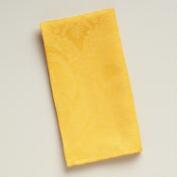 Yellow Damask Ogee Napkins, Set of 4