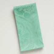 Aqua Damask Ogee Napkins, Set of 4