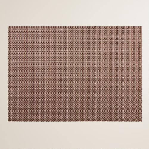 Copper Alto Woven Vinyl Placemats, Set of 4
