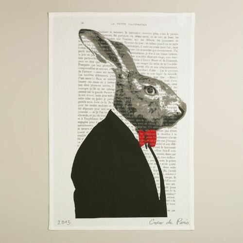 Rabbit Bonjour Paris Kitchen Towel