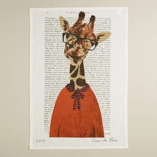 Giraffe Bonjour Paris Kitchen Towel