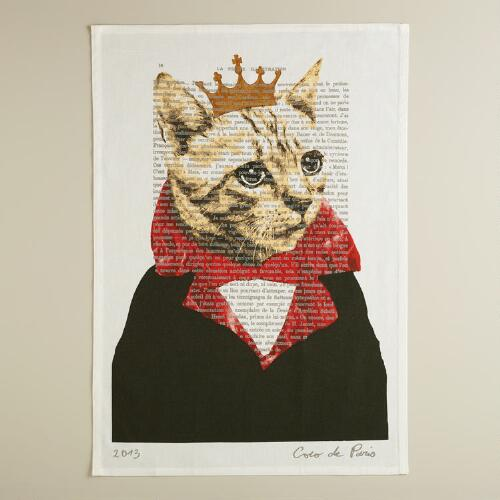 Cat Bonjour Paris Kitchen Towel