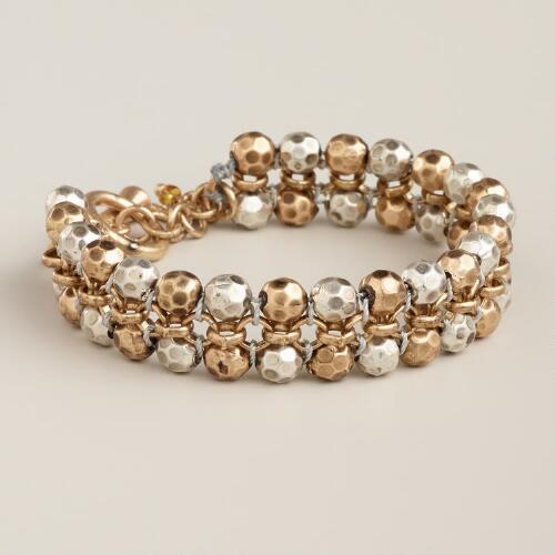 Gold and Silver Ball Bracelet