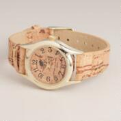 Brown Cork Watch