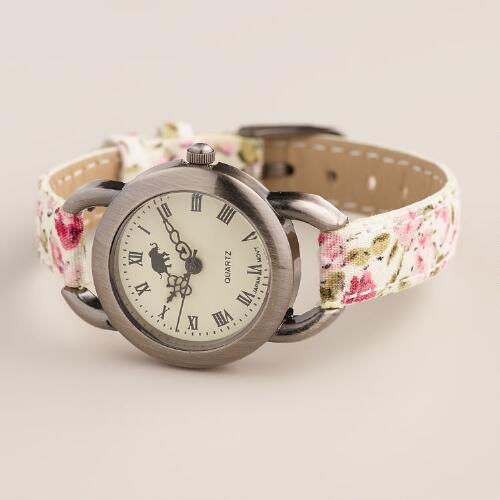Floral Fabric Watch