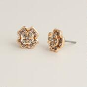 Gold Flower Stud Earrings