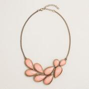 Coral Cluster Statement Necklace