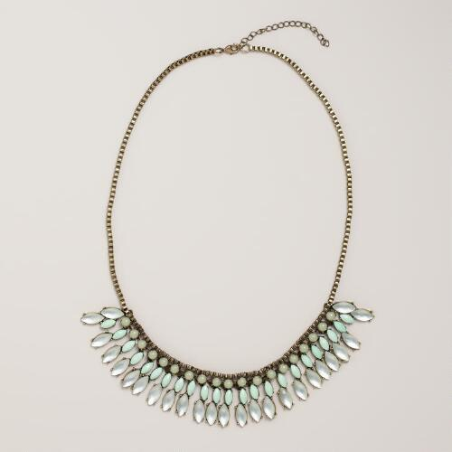 Icy Mint Statement Necklace