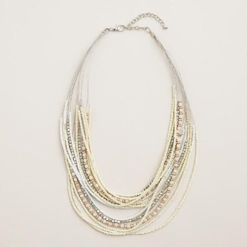 Short Multi-Strand Bead Necklace