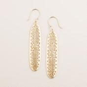 Gold Linear Drop Earrings