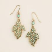 Pacific Opal Leaf Dangle Earrings