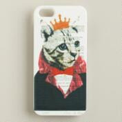 Cat Bonjour Paris iPhone 5 Case
