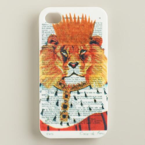 Lion Bonjour Paris iPhone 4 Case