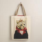 Cat Bonjour Paris Tote Bag