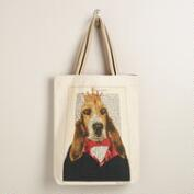 Dog Bonjour Paris Tote Bag