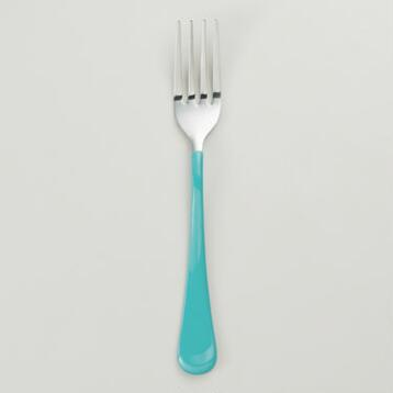 Aqua Enamel Fork, Set of 4