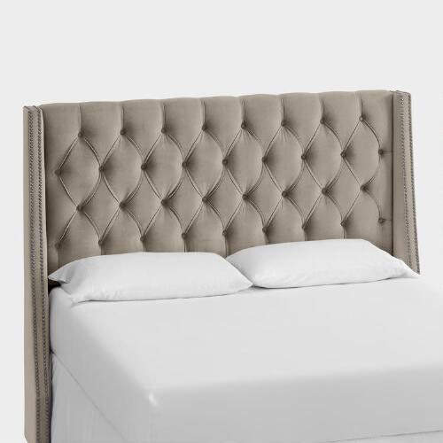 Velvet Kellerman Upholstered Headboard