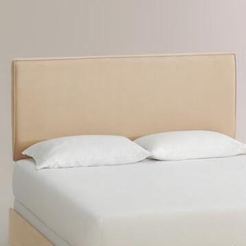 Micro Suede Loran Upholstered Bed
