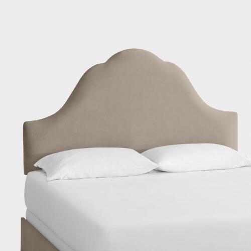 Velvet Elsie Upholstered Bed