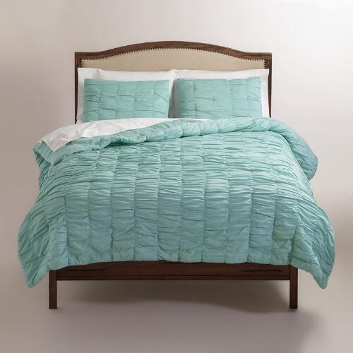 Harbor Blue Ella Ruched Bedding Collection