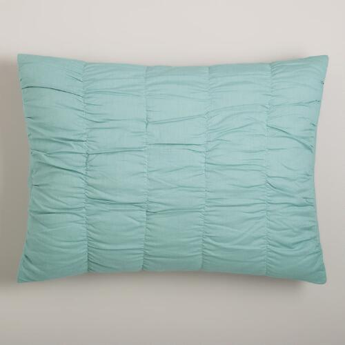 Harbor Blue Ella Ruched Pillow Shams, Set of 2