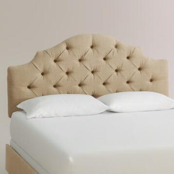 Linen Sabine Upholstered Bed