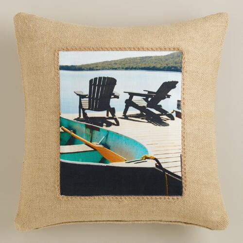Adirondack Photo Throw Pillow